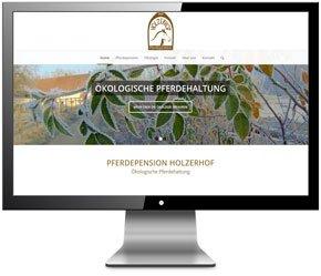 Homepage für Reitanlage Holzerhof