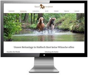 Referenz Homepage Gestüt von Erden